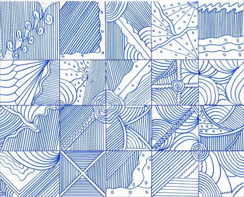 2 gambar ragam hias garis subhandepok
