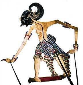 Indonesian shadow puppet wayangkulit