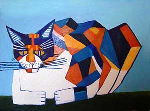 Philip_Absolon._Cassie_Thinking_About_Cubism